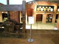 ワインの樽が見える見学コース
